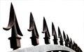 Extreme close up van de decoratieve aren van de veiligheidspoort Royalty-vrije Stock Afbeelding