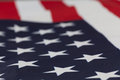 Extreme closeup on stars of USA flag Royalty Free Stock Photo