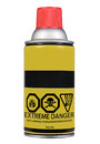 Extreme danger spray can Royalty Free Stock Photos