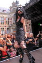 Extreme fetish gothic fashion show Stock Images