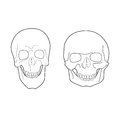 Extreme forms of the human skull illustration Stock Photos