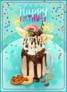 Extrémnej narodeninová oslava oznámenia plagát