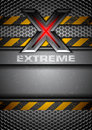 Extreme grungy metal background with the letter x Royalty Free Stock Photos