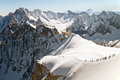 Extreme hiking in european alps Royalty Free Stock Photography