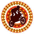 Extreme motorcycling label. Stock Photo