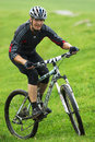 Extreme mountain bike contest Royalty Free Stock Photography