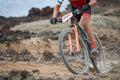 Extreme mountain bike sport athlete man riding outdoors