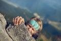 extreme mountain climb