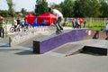 Extreme skateboarding tricks Royalty Free Stock Photo