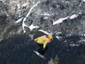 Extreme snowboard Royalty Free Stock Image