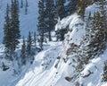 Extreme snowboarding Stock Image