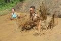Extreme sport challenge ice water