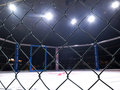 Extreme Sport mixed martial arts competition tournament MMA MAXMIX. Octagonal ring for fights. Royalty Free Stock Photo