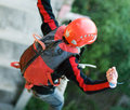 Extreme sports Ropejumping Royalty Free Stock Photo