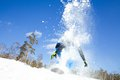 Extreme winter on snowboard in resort Stock Photography