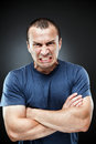 Extremely angry man Stock Images
