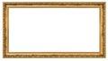 Extremely long golden frame