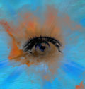 Eye abstract background, beautiful banner wallpaper design illustration Royalty Free Stock Photo
