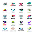 Eye blinker business icon glimmer template logo idea startup light company badge vector illustration Royalty Free Stock Photo