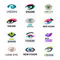 Eye blinker business vision daylight glimmer template logotype idea keeker light peeper company badge vector Royalty Free Stock Photo