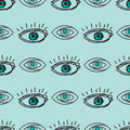Eye blinker seamless pattern vision daylight glimmer template keeker light peeper company vector illustration Royalty Free Stock Photo