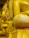 Eye of Buddha Brass Statue Sitting Royalty Free Stock Photo