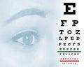 Eye Chart Woman