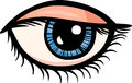 Eye clip art cartoon illustration of human Stock Photo