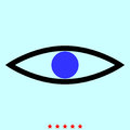 Eye it is color icon .