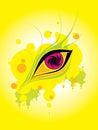 Eye dream hallucination graphics abstraction Stock Photo
