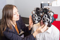 Picture : Eye exam girl literacy lesson