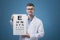 Image : Eye exam exam  writing