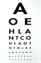 Eye examination snellen chart traditional used for visual acuity testing concept photo of health and medical care Royalty Free Stock Photos