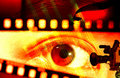 Eye and the film Royalty Free Stock Photo