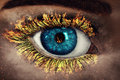 Eye in Flames Royalty Free Stock Photo