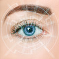 Eye of the future Royalty Free Stock Photo