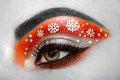 Eye girl makeover snowflakes Royalty Free Stock Photo