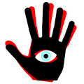 Eye hand Stock Photography