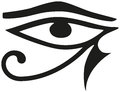 Eye of horus the is an ancient egyptian symbol protection royal power and good health the is personified in the goddess Stock Photo