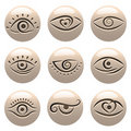 Eye icons Royalty Free Stock Images