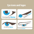 Eye icons and logos Royalty Free Stock Images