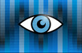 Eye illustration design over a binary background Royalty Free Stock Photo