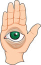 Eye illustration of a hand with an Stock Images