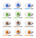 Eye logo and icon set Stock Images