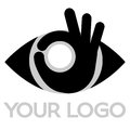 Eye logo vector illustration for hospital and care Royalty Free Stock Image