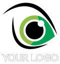 Eye logo vector illustration for hospital and care Stock Photo
