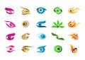 Eye logo, vision concept symbol design