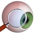 Eye With Loupe Royalty Free Stock Images