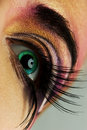 Eye paint Royalty Free Stock Images