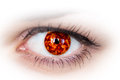 Eye with planet inside. Royalty Free Stock Photo